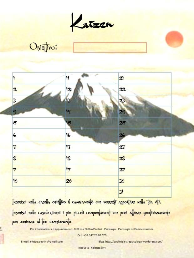 Calendario Kaizen Elettra Paolini Psicologa